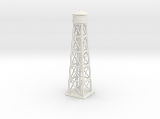 1/1200 Brooklyn Water Tower in White Natural Versatile Plastic