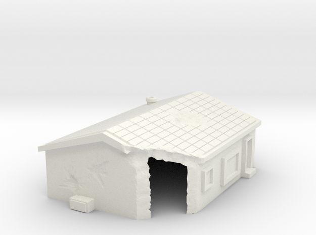 Damaged house 1 -free download in White Natural Versatile Plastic