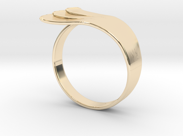 Mother Goose Ring in 14k Gold Plated Brass