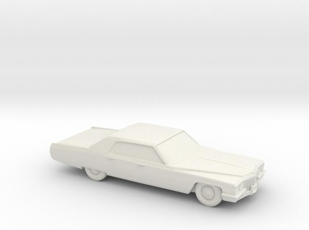 1/76 1972 Cadillac Sedan DeVille in White Natural Versatile Plastic