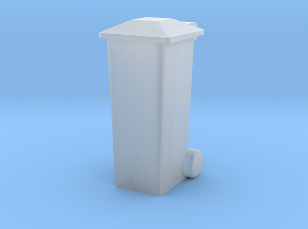 OO Gauge 140 Ltr Wheelie Bin in Smooth Fine Detail Plastic