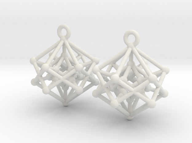 Hyperpoly Earrings in White Natural Versatile Plastic