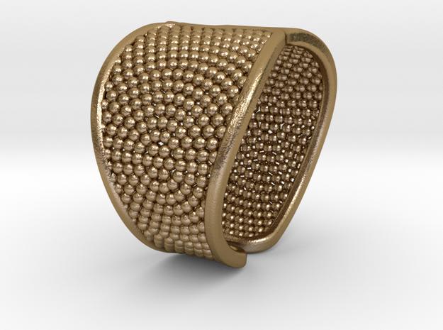 Bracelet SPH Ø2.4 inch-Ø6.1 cm in Polished Gold Steel