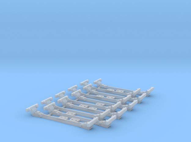 10 Barres d'écartement décoratives in Smooth Fine Detail Plastic