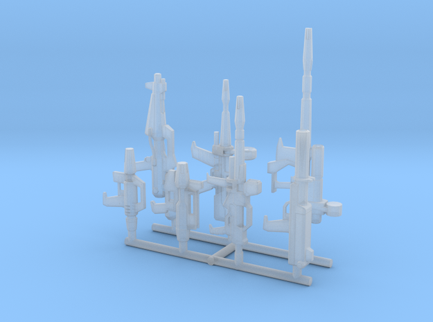 EFF MS Beam Weapons in Smooth Fine Detail Plastic: 1:400