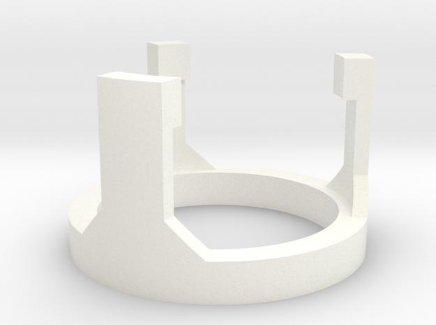 OWK Part 5/5 - SpeakerHolderTop in White Processed Versatile Plastic
