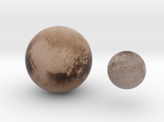 Pluto & Charon 1:250 million in Full Color Sandstone