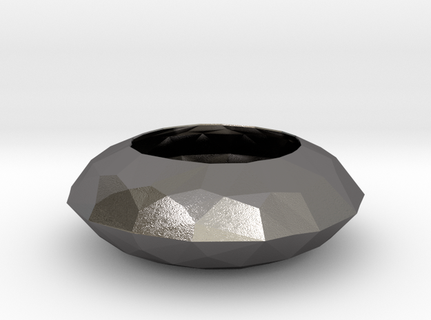 Diamond Bowl in Polished Nickel Steel