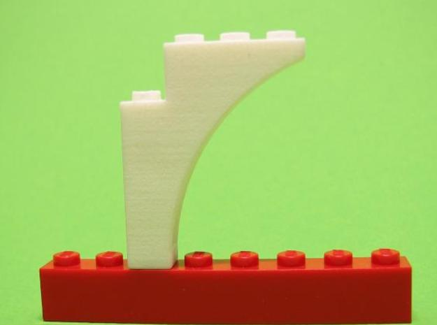 Arch Pointed 1 x 4 x 4 in White Natural Versatile Plastic