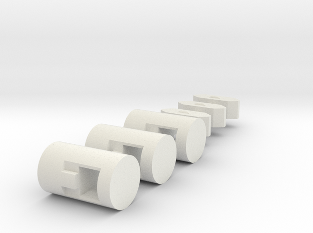 MiSTer XS Case v5.2 XS ButtonsKit (Part 4/4) in White Natural Versatile Plastic