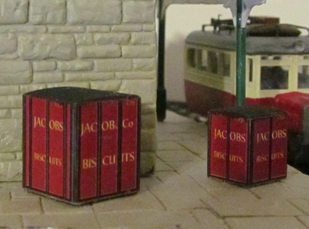 3mm Scale Jacob's Containers   in White Natural Versatile Plastic