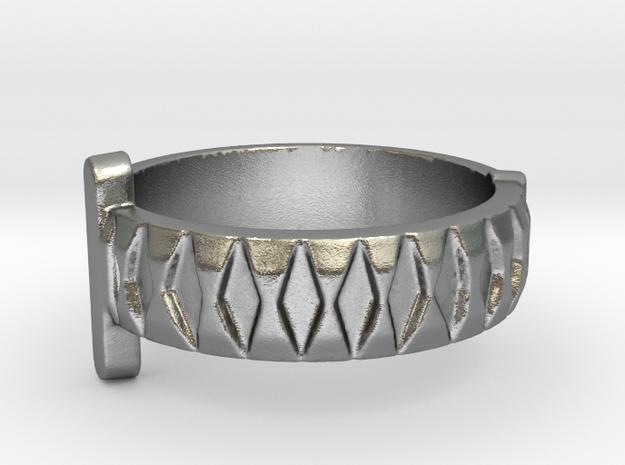 Katana Sword Ring (Precious Metal) in Natural Silver: 5 / 49