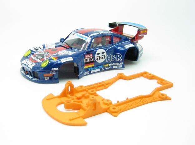 PSRV00101 Chassis for RevoSlot Prsche 911 GT2 in Orange Processed Versatile Plastic