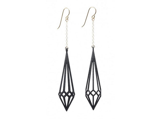 Deco Drop Earrings in White Strong & Flexible