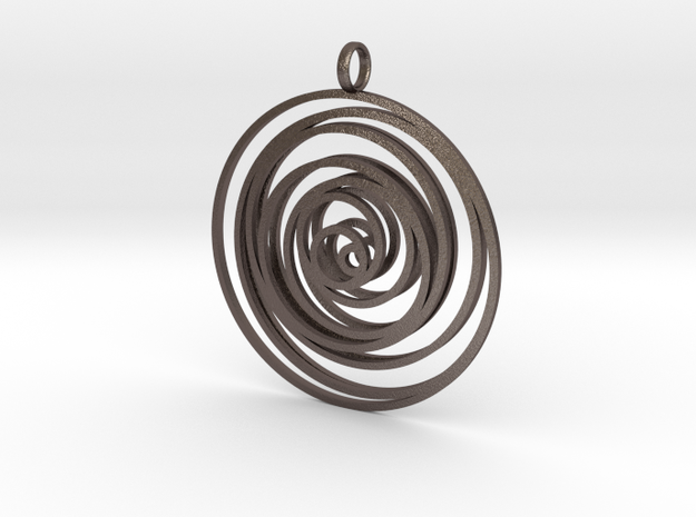 Time in Polished Bronzed Silver Steel