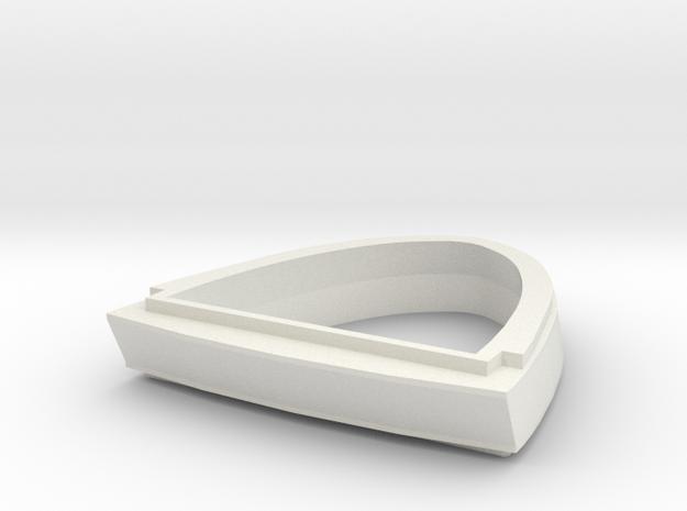 Ingram Neck - SOLID in White Natural Versatile Plastic