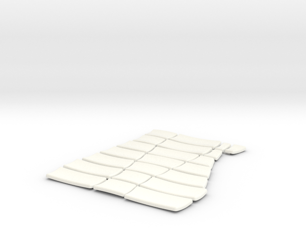 DeAgo Falcon Corridor - Port Pads in White Processed Versatile Plastic