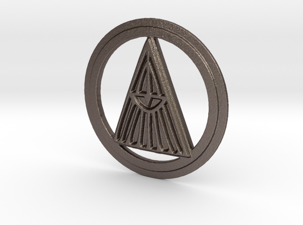 Radiance Rune in Polished Bronzed Silver Steel