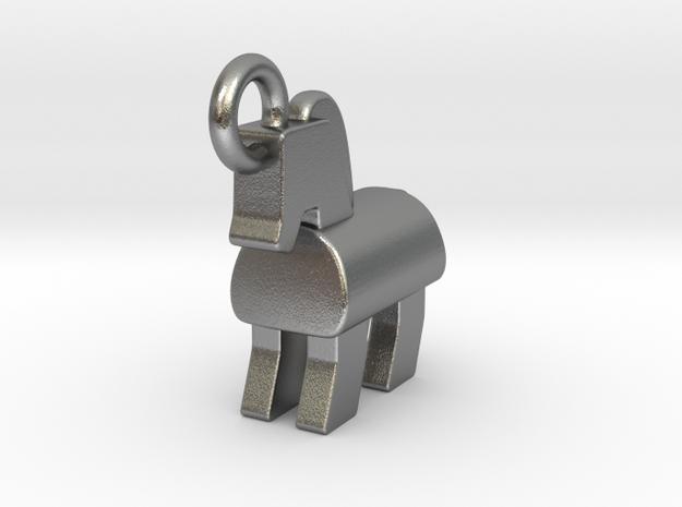 Trojan Horse Pendant in Natural Silver