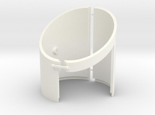 DeAgo Falcon Corridor - Straight Extension Tube in White Processed Versatile Plastic