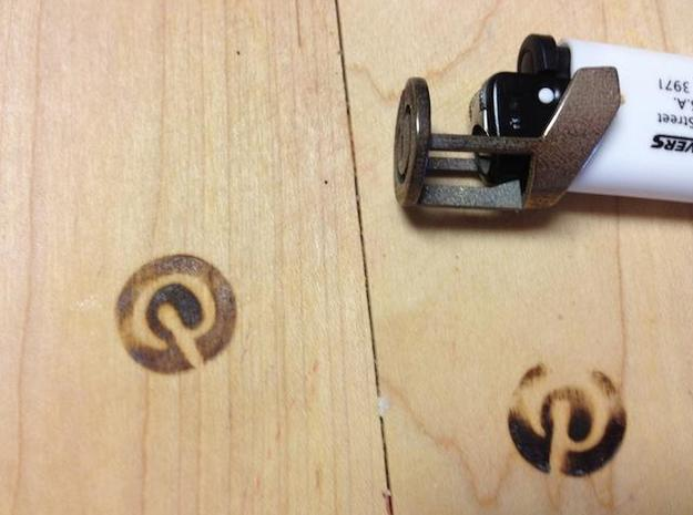 Pin It Branding Iron for BIC Lighters in Polished Bronzed Silver Steel