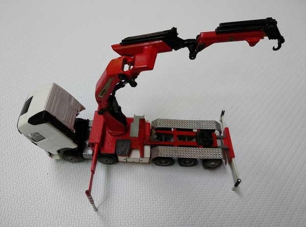 1/87 Truck Mounted Crane Base Model in Smooth Fine Detail Plastic