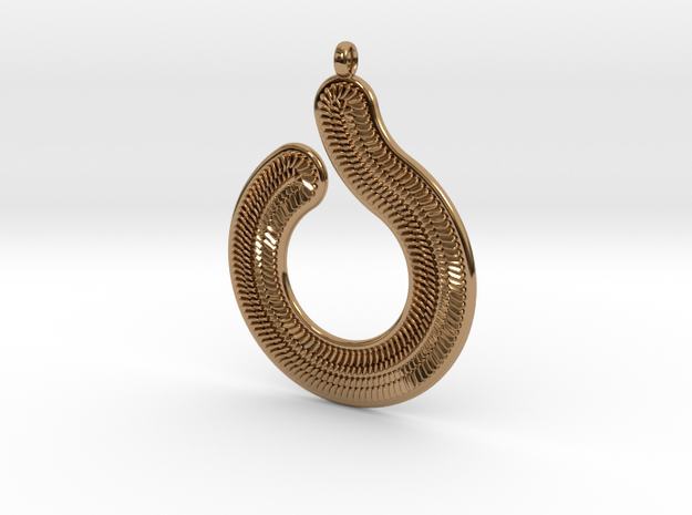 Circles & Scales Pendant #1 in Polished Brass