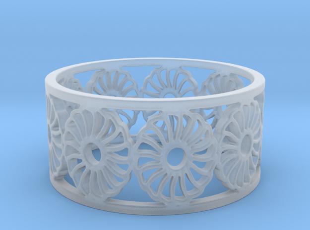 Chrysanthemum Ring Design Ring Size 8.25 in Smooth Fine Detail Plastic