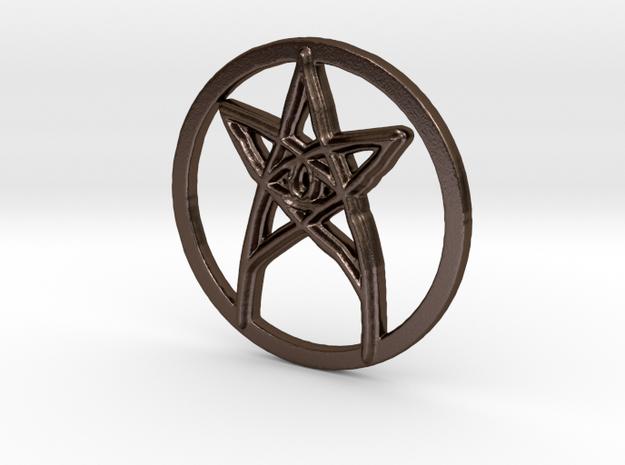 Eye in Polished Bronze Steel