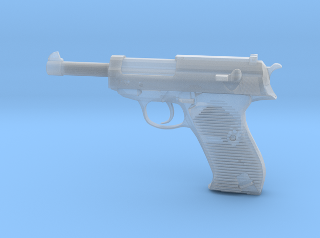 1/3 Scale Walthers P38 Pistol  in Smooth Fine Detail Plastic