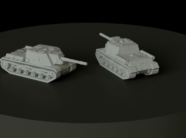SU-152 scale: 1:144 in Smooth Fine Detail Plastic