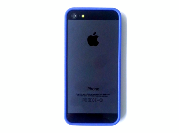 iphone 5 basic bumper in Blue Processed Versatile Plastic
