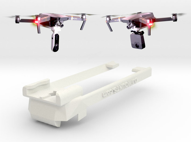 DJi Mavic Pro & Platinum Bottom Mount 4.0 in White Natural Versatile Plastic