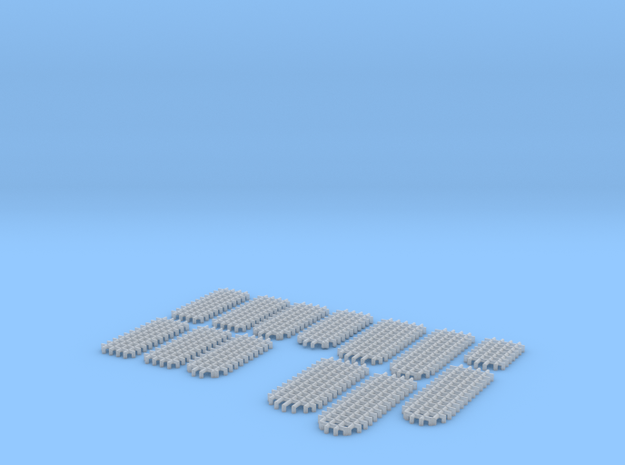 HOF071 - Optional grates for the castle in Smooth Fine Detail Plastic