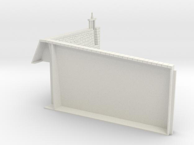 HOF081 - Upper counterscarp wall in White Natural Versatile Plastic