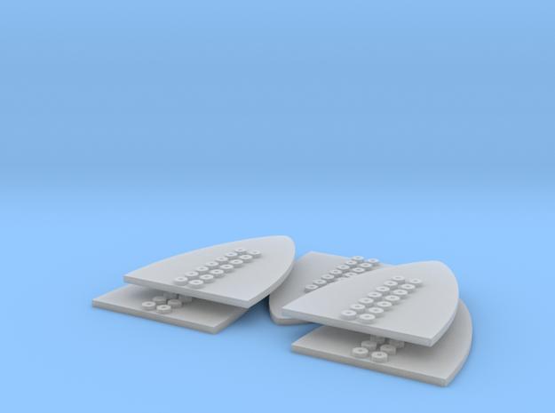 Proa 8 puntos Placa (x5) in Smooth Fine Detail Plastic
