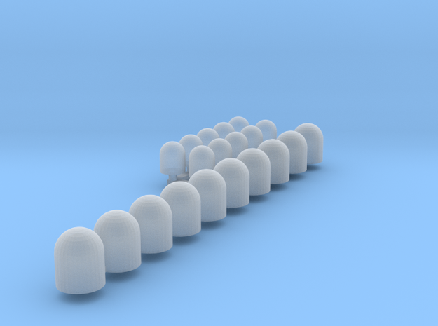 Sirena (x10) + Minisirena (x10) in Smooth Fine Detail Plastic