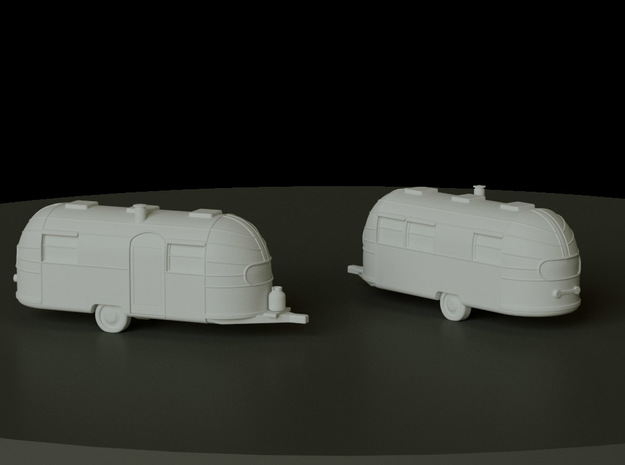 Airstream Trailer scale: 1:200 in Smooth Fine Detail Plastic