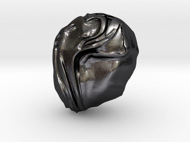"""""""Help Me!"""" Carving Scuplture (Dark Souls) in Polished and Bronzed Black Steel: Small"""