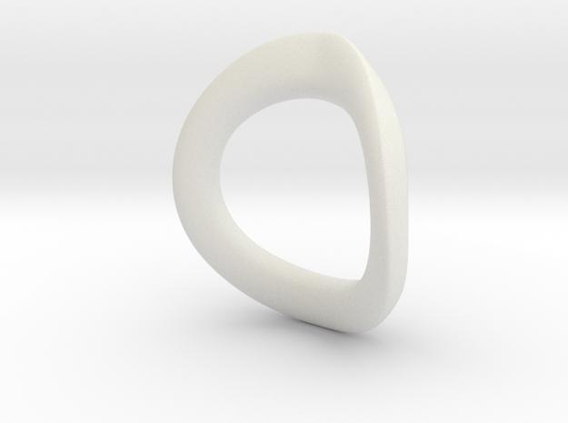 JNada Pendant in White Natural Versatile Plastic
