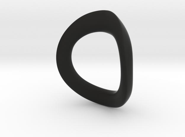 JNada Pendant in Black Natural Versatile Plastic