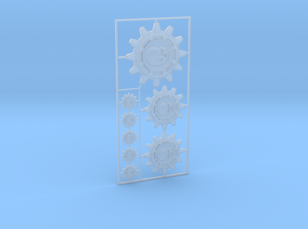Mechanical Cult Gear Icons in Smooth Fine Detail Plastic