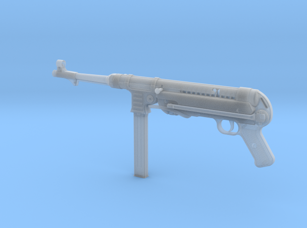 MP40 1/4th Scale  in Smooth Fine Detail Plastic