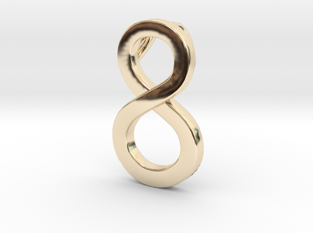 Pendentif 8 Number 8 eight pendant in 14K Yellow Gold