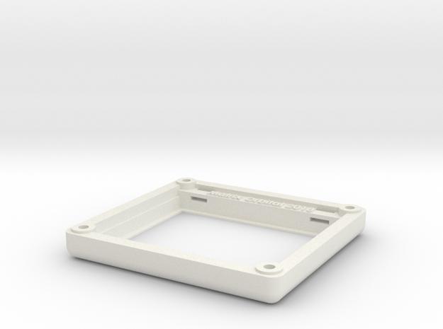 "Matrix Orbital 3.5"" Smooth Bezel Mount (Rev1.0) in White Natural Versatile Plastic"