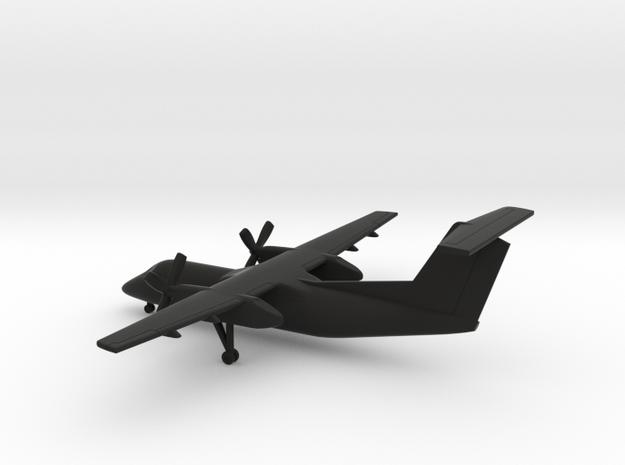 Bombardier Dash 8 Q200 in Black Natural Versatile Plastic: 1:350