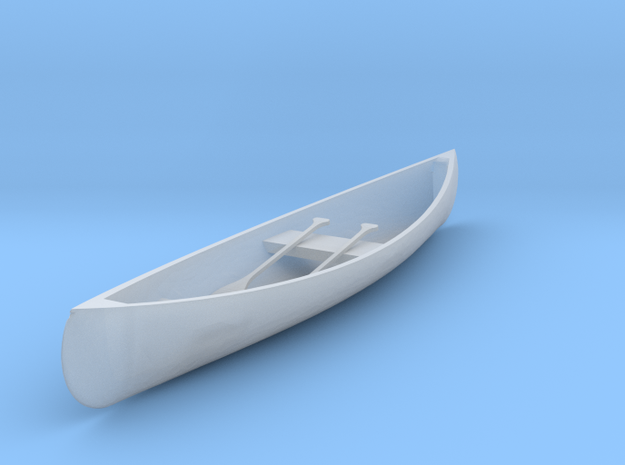 S Scale Canoe in Smooth Fine Detail Plastic