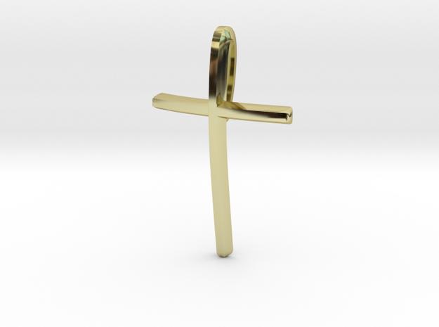 Pendentif CROIX épurée in 18K Yellow Gold
