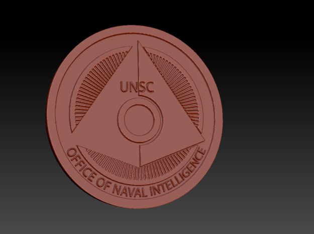 Office of Naval Intelligence ONI Themed Coaster in White Natural Versatile Plastic