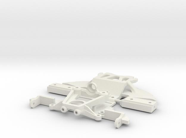 PNR 2-5  SUPPORT AV - DAMPER **PARTIE N°1** in White Natural Versatile Plastic